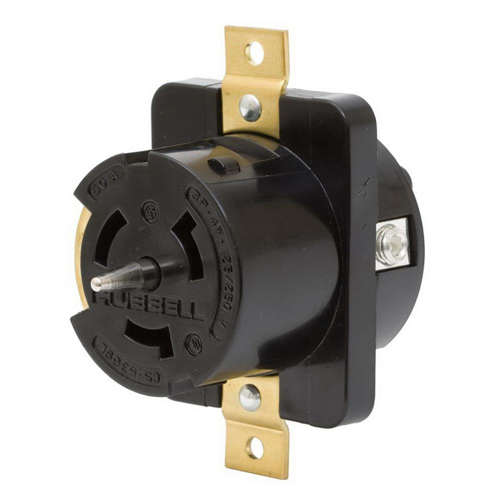 hight resolution of hubbell wiring cs8169 screw mount non nema single receptacle 50 amp 480 volt ac 3 phase black melamine twist lock twist lock receptacles wiring