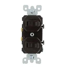 leviton 5334 1 pole 120 277 volt ac commercial grade duplex combination ac [ 900 x 900 Pixel ]