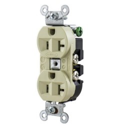 hubbell wiring 5362i industrial grade heavy duty straight blade duplex receptacle 20 amp 125 volt nema 5 20r ivory straight blade receptacles wiring  [ 1000 x 1000 Pixel ]