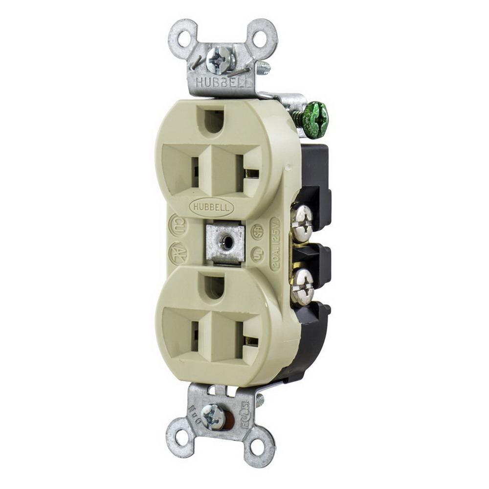 hight resolution of hubbell wiring 5362i industrial grade heavy duty straight blade duplex receptacle 20 amp 125 volt nema 5 20r ivory straight blade receptacles wiring