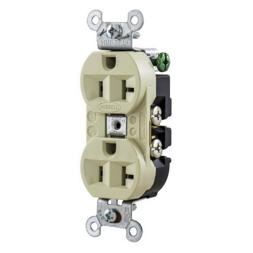 small resolution of hubbell wiring 5362i industrial grade heavy duty straight blade duplex receptacle 20 amp 125 volt nema 5 20r ivory straight blade receptacles wiring