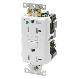 leviton gfwt2 hgw hospital grade extra heavy duty tamper and weather resistant gfci [ 1000 x 1000 Pixel ]