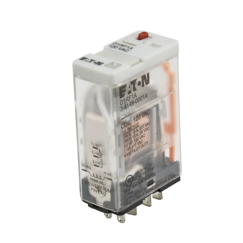 medium resolution of eaton d1rf1a 1 pole spdt d1rf series ice cube general purpose plug in relay