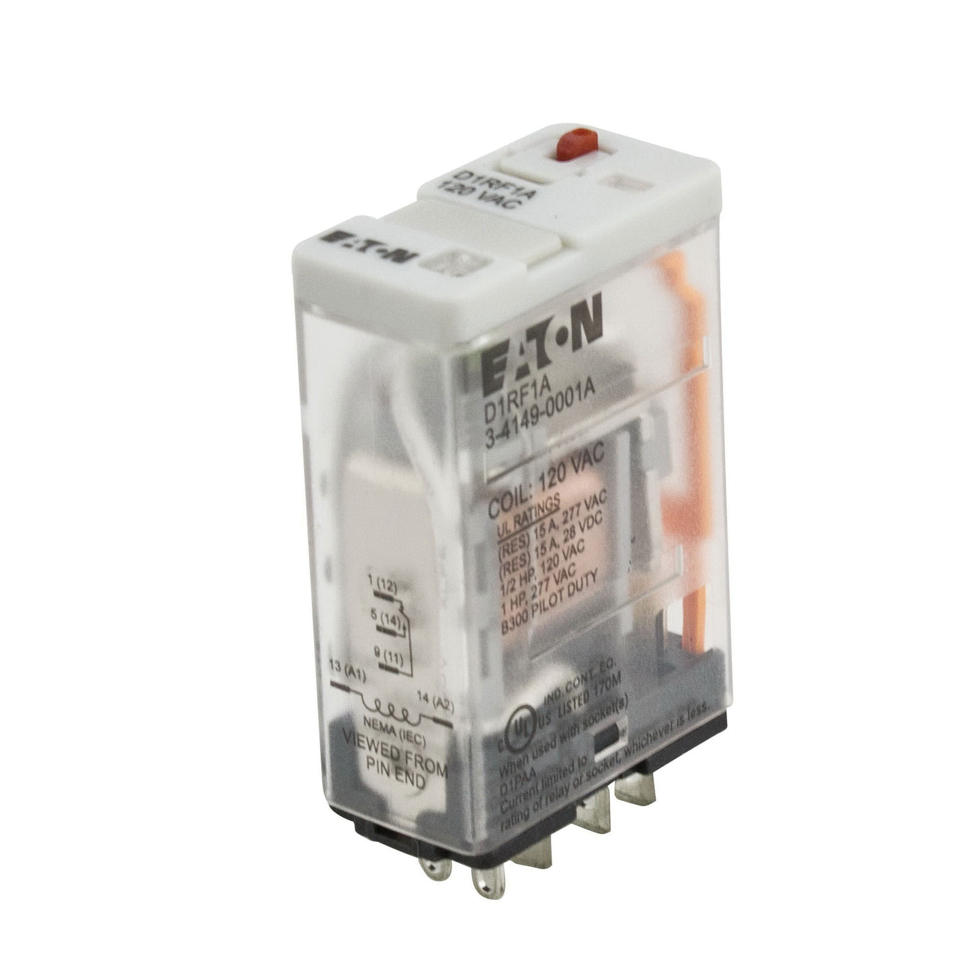 hight resolution of eaton d1rf1a 1 pole spdt d1rf series ice cube general purpose plug in relay