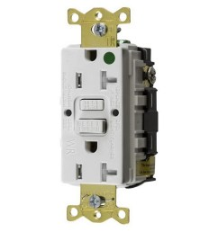 hubbell wiring gftwrst83w hospital grade standard weather resistant gfci receptacle 20 amp 125 [ 1000 x 1000 Pixel ]
