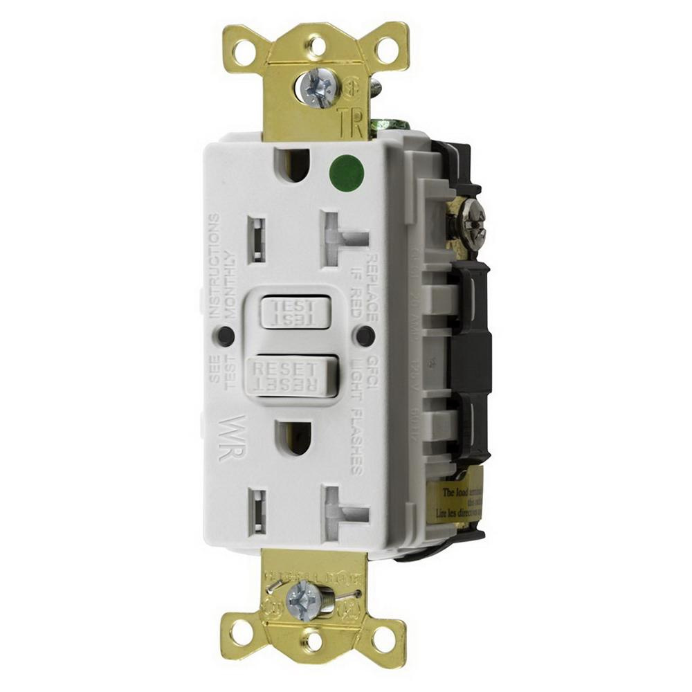 hight resolution of hubbell wiring gftwrst83w hospital grade standard weather resistant gfci receptacle 20 amp 125
