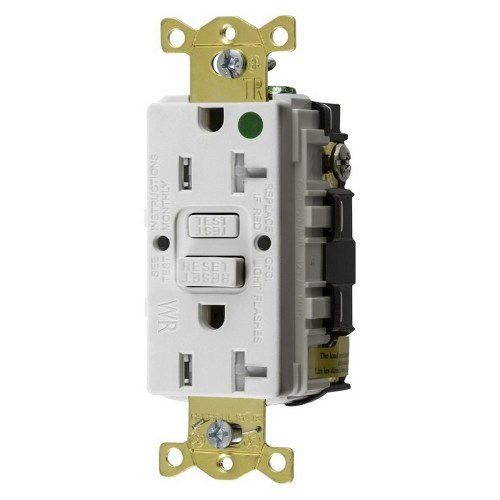 small resolution of hubbell wiring gftwrst83w hospital grade standard weather resistant gfci receptacle 20 amp 125