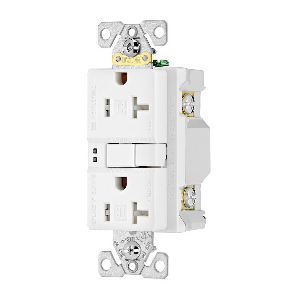 hight resolution of cooper wiring device trsgf20w specification grade tamper resistant self test gfci duplex receptacle 20