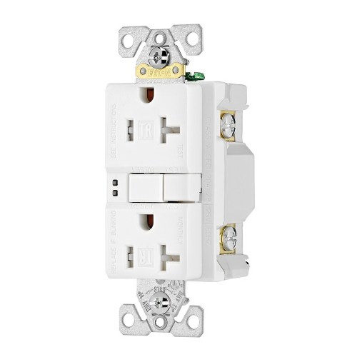 small resolution of cooper wiring device trsgf20w specification grade tamper resistant self test gfci duplex receptacle 20