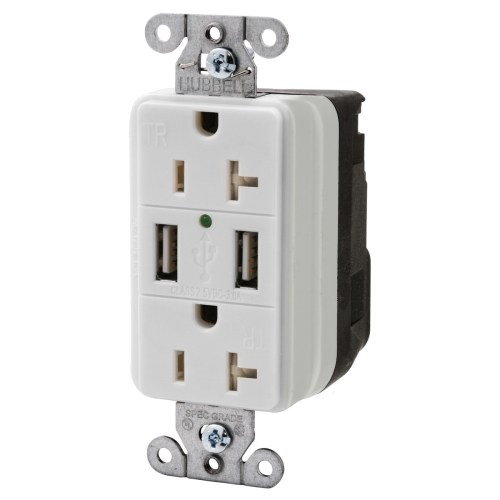 small resolution of hubbell wiring snap20usbw decorator tamper resistant straight blade usb charger duplex receptacle 125