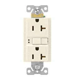 cooper wiring device sgf20la grounding gfci duplex receptacle 20 amp 125 volt nema 5 [ 1000 x 1000 Pixel ]