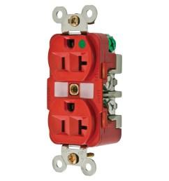 hubbell wiring hbl8300rmri hospital grade traditional straight blade mri receptacle 2 pole 3  [ 1200 x 1200 Pixel ]