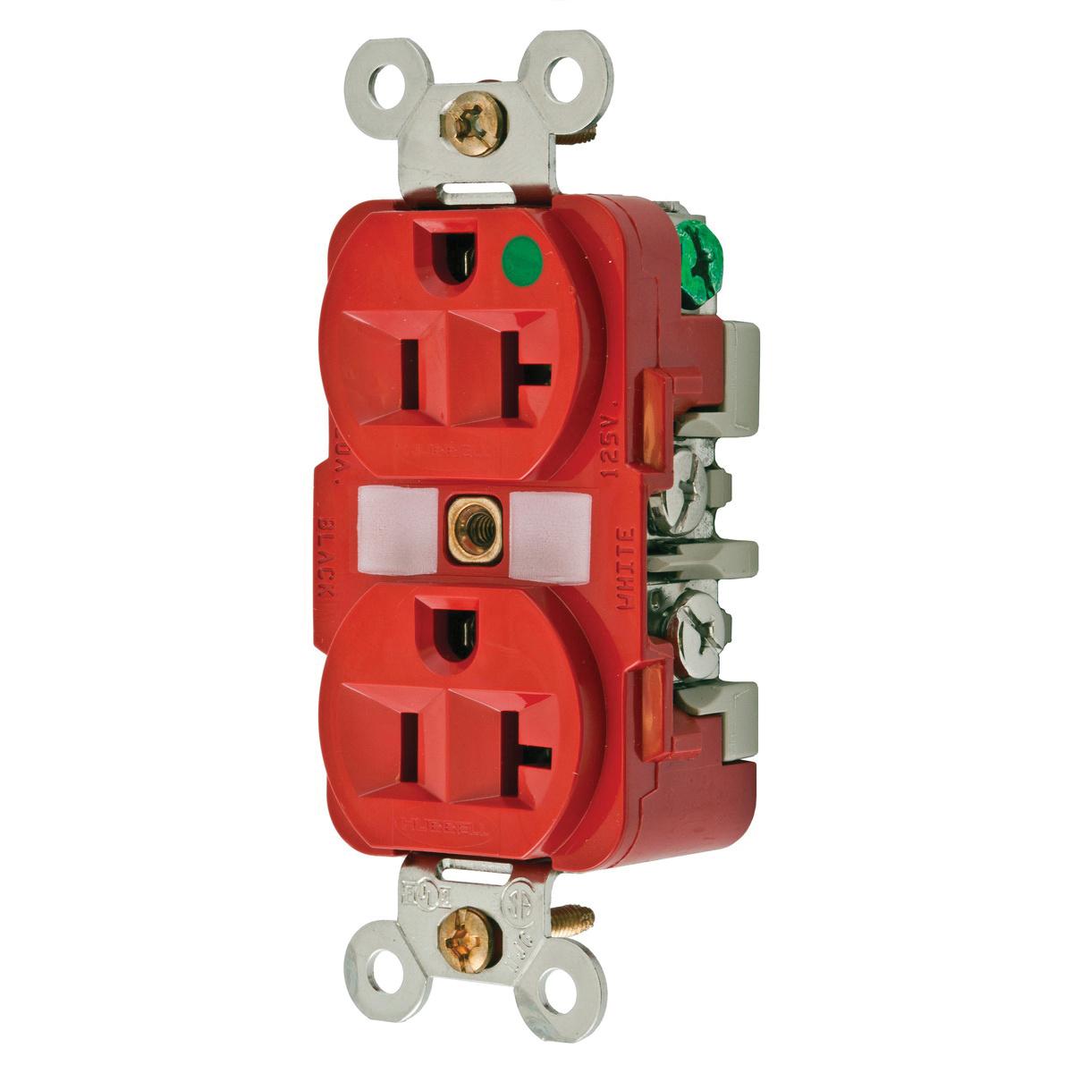 hight resolution of hubbell wiring hbl8300rmri hospital grade traditional straight blade mri receptacle 2 pole 3