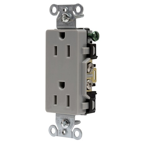 small resolution of hubbell wiring dr15gry decorator straight blade duplex receptacle 2 electrical wiring device with multiple on hubbell wiring devices