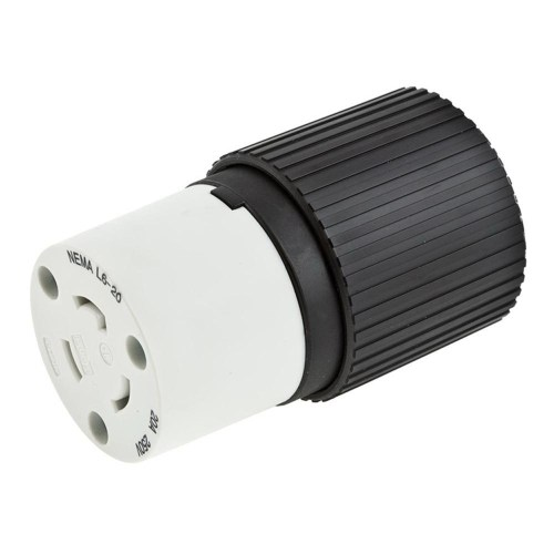 small resolution of hubbell wiring l620c 3 wire 2 pole polarized locking connector 250 volt 20 amp nema l6 20r black white hubbell pro select spec twist lock connectors