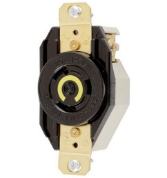 hubbell wiring hbl2320 flush mount single receptacle 20 amp 250 volt ac 1 [ 1000 x 1000 Pixel ]