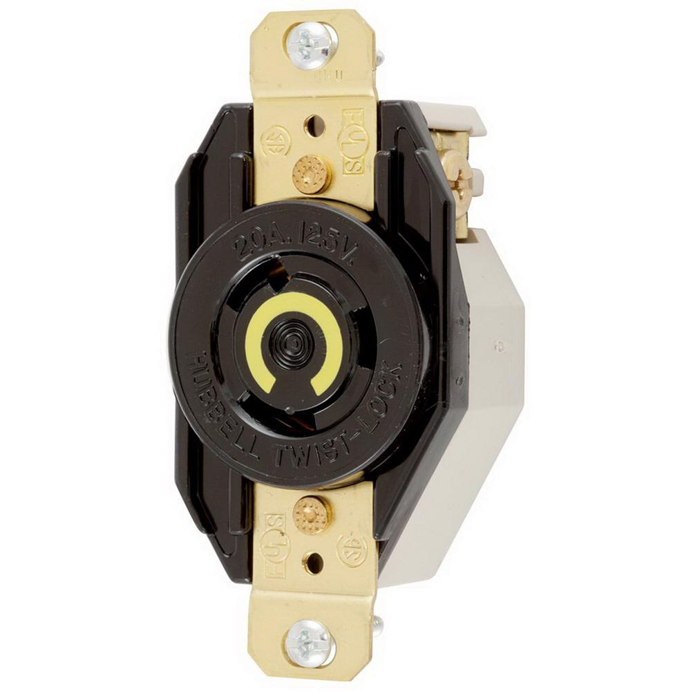 medium resolution of hubbell wiring hbl2320 flush mount single receptacle 20 amp 250 volt ac 1