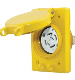 hubbell wiring hbl69w76 3 phase impact corrosion resistant watertight receptacle with lift [ 1200 x 1200 Pixel ]