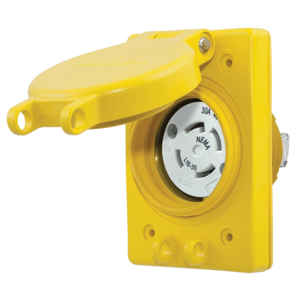 medium resolution of hubbell wiring hbl69w76 3 phase impact corrosion resistant watertight receptacle with lift