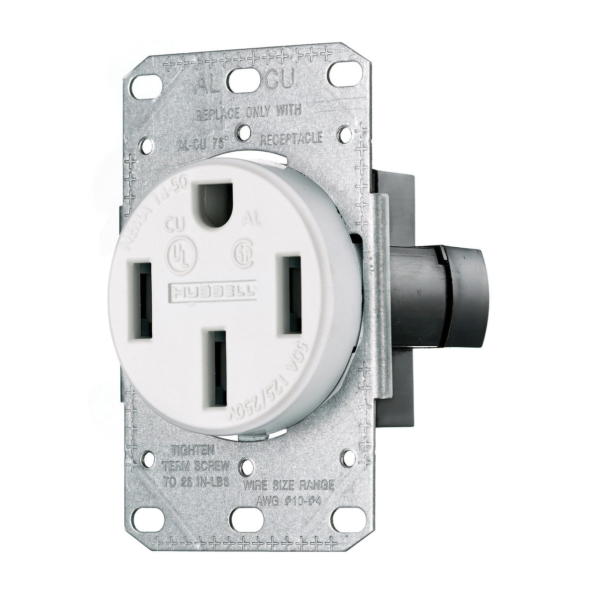 hight resolution of hubbell wiring rr450fw smooth face straight blade single receptacle 14 50r 50 ampere receptacle illustration of nema 14 wiring