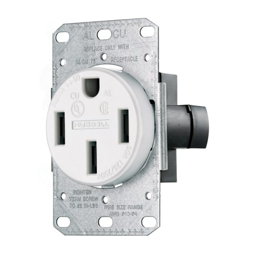 small resolution of hubbell wiring rr450fw smooth face straight blade single receptacle 14 50r 50 ampere receptacle illustration of nema 14 wiring