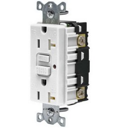 hubbell wiring gftr20w commercial grade tamper resistant gfci receptacle with led indicator 20 amp 120 volt ac nema 5 20r white gfci afci receptacles  [ 900 x 900 Pixel ]