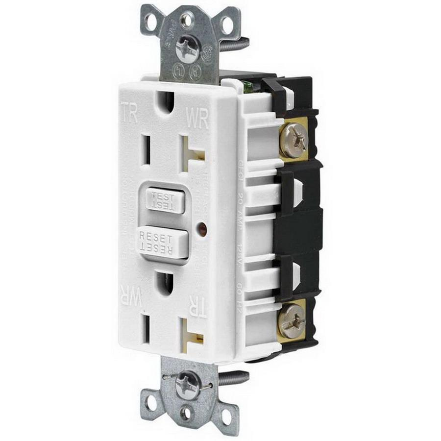 medium resolution of hubbell wiring gftr20w commercial grade tamper resistant gfci receptacle with led indicator 20 amp 120 volt ac nema 5 20r white gfci afci receptacles