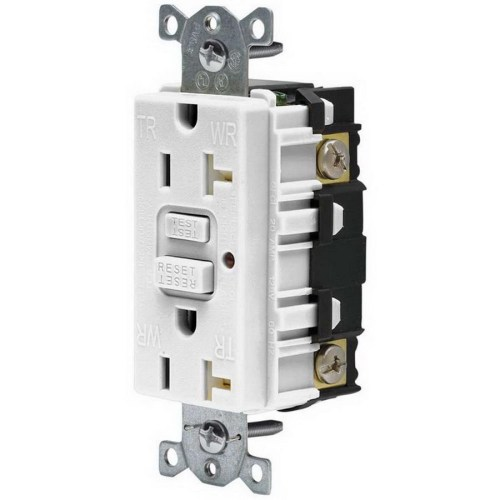 small resolution of hubbell wiring gftr20w commercial grade tamper resistant gfci receptacle with led indicator 20 amp 120 volt ac nema 5 20r white gfci afci receptacles