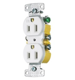 hubbell wiring rr15swtr residential grade tamper resistant straight blade duplex receptacle 15 amp 125 volt nema 5 15r white tradeselect straight blade  [ 1000 x 1000 Pixel ]