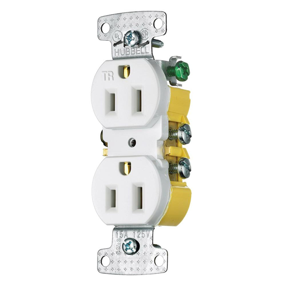 medium resolution of hubbell wiring rr15swtr residential grade tamper resistant straight blade duplex receptacle 15 amp 125 volt nema 5 15r white tradeselect straight blade
