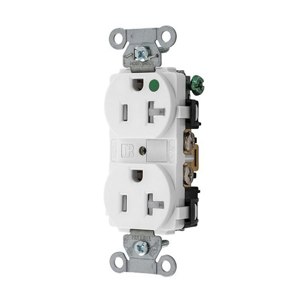 medium resolution of hubbell wiring 8300wtra extra heavy duty hospital grade tamper resistant duplex straight blade receptacle 20 amp 125 volt ac nema 5 20r white hubbell pro