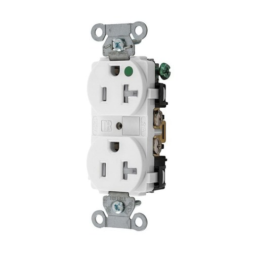 small resolution of hubbell wiring 8300wtra extra heavy duty hospital grade tamper resistant duplex straight blade receptacle 20 amp 125 volt ac nema 5 20r white hubbell pro
