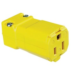 hubbell wiring hbl5969vy 3 wire 2 pole polarized straight blade connector 125 volt 15 amp nema 5 15r yellow valise straight blade connectors plug  [ 1000 x 1000 Pixel ]