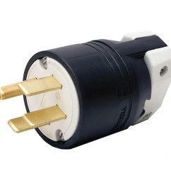 hubbell wiring hbl9451c 4 wire 3 pole straight blade plug 125 250 volt 50 amp nema 14 50p black white insulgrip straight blade plugs plug connectors  [ 1000 x 1000 Pixel ]