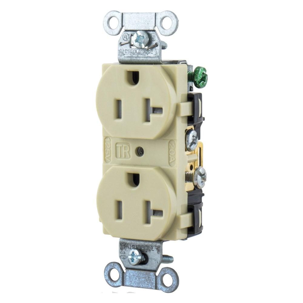 medium resolution of hubbell wiring br20itr 3 wire 2 pole tamper resistant straight blade duplex