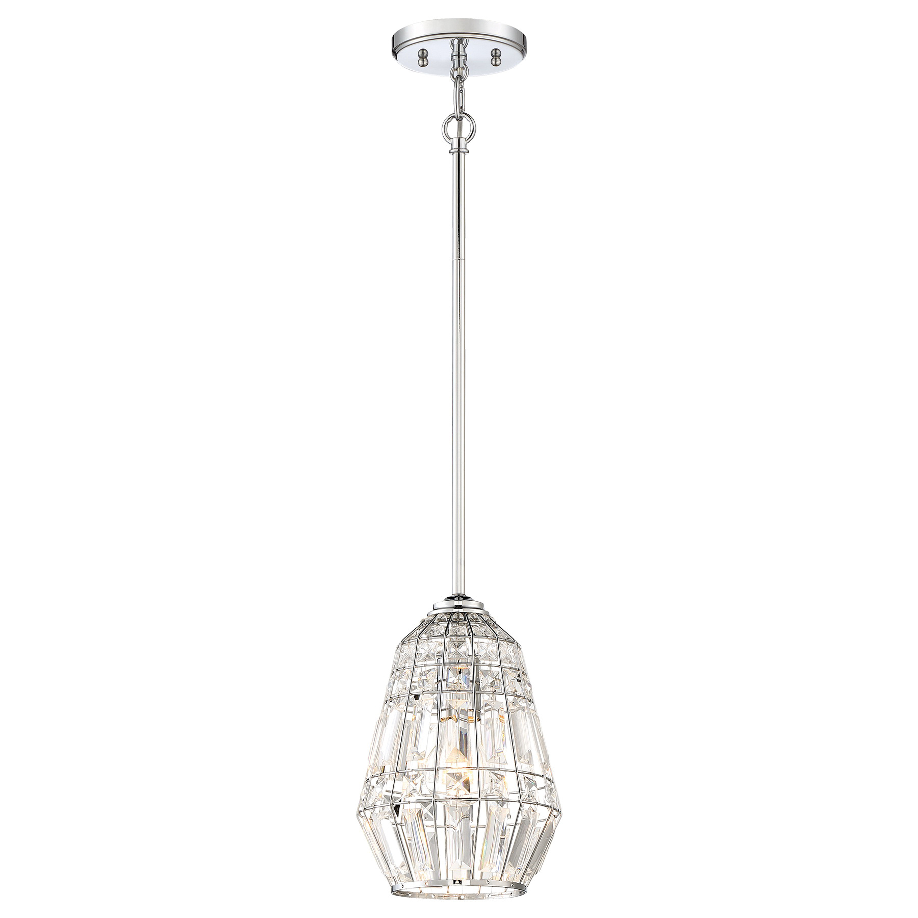 Minka Lavery 77 1 Light Mini Pendant Light 100 Watt Chrome Braiden