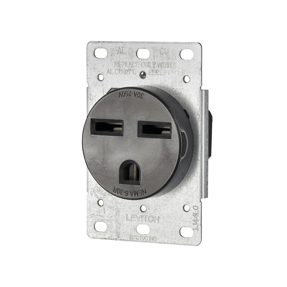 medium resolution of leviton 5372 s00 industrial grade single straight blade receptacle 250 volt 30 amp