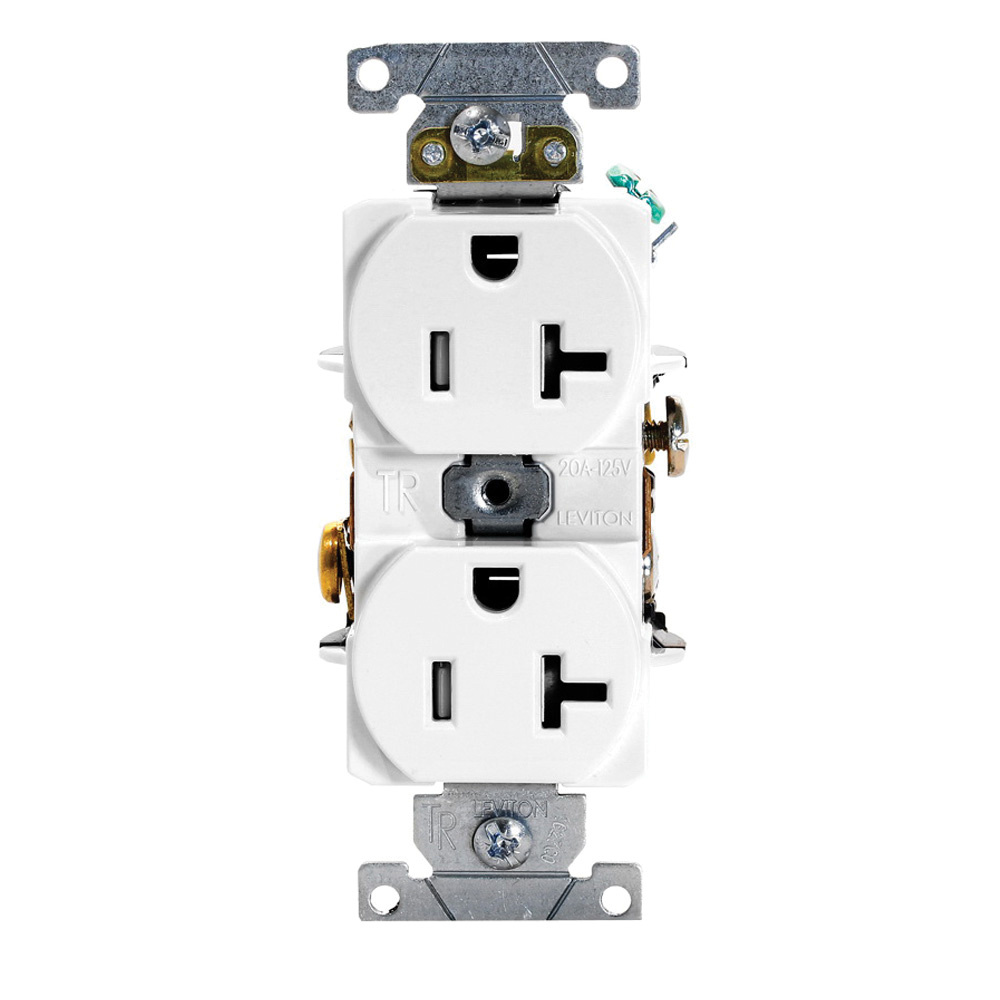 hight resolution of leviton t5362 w 3 wire 2 pole heavy duty smooth face tamper resistant duplex receptacle outlet 125 volt ac 20 amp white receptacle receptacle