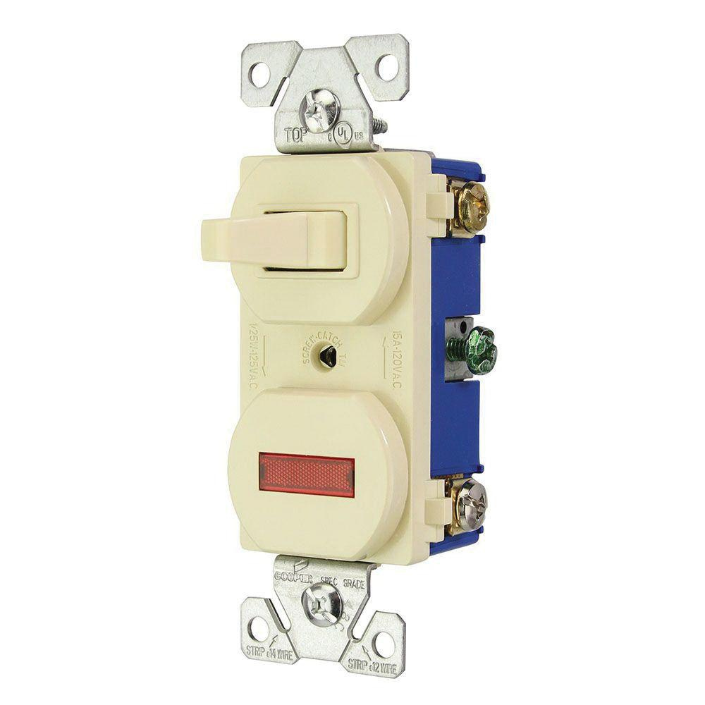 medium resolution of cooper wiring device 294v box 120 volt ac 15 amp 3 way commercial wiring devices 15amp ivory combination special use light switch