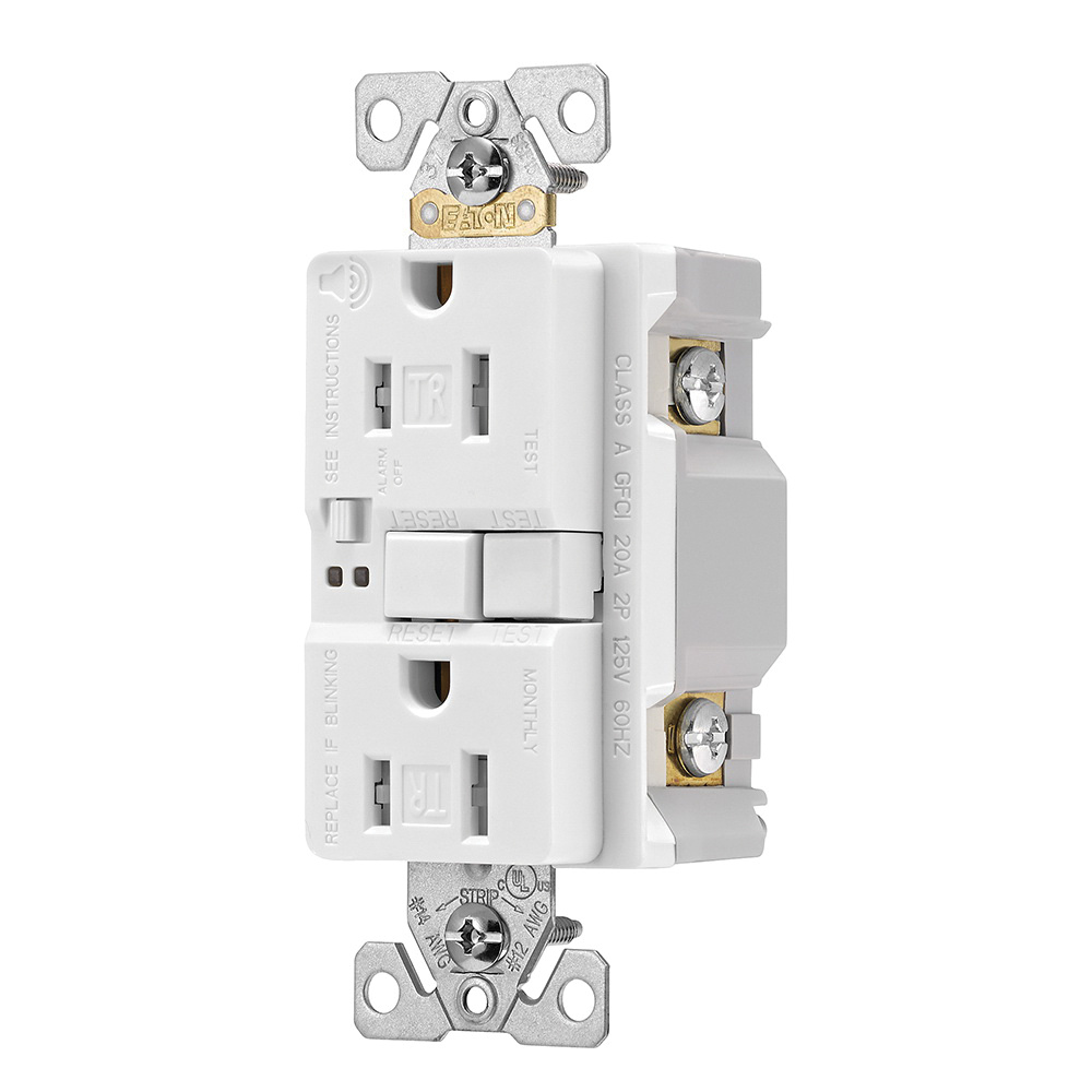 medium resolution of cooper wiring device trsgfa15w tamper resistant self test duplex gfci receptacle with audible alarm