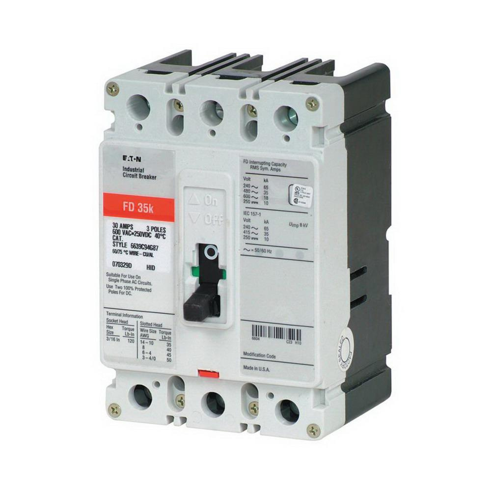 medium resolution of eaton fd3100 panel mount type fd molded case circuit breaker 3 pole 100 amp