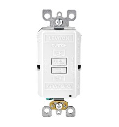 leviton agrbf w dual function monochromatic blank face afci gfci receptacle outlet 125 [ 1000 x 1000 Pixel ]