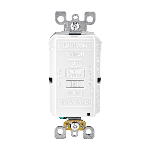 small resolution of leviton agrbf w dual function monochromatic blank face afci gfci receptacle outlet 125