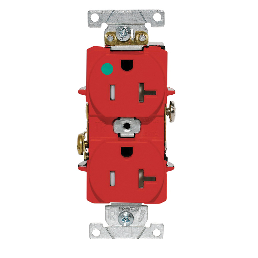 medium resolution of leviton t8300 r heavy duty smooth face tamper resistant duplex receptacle outlet 2