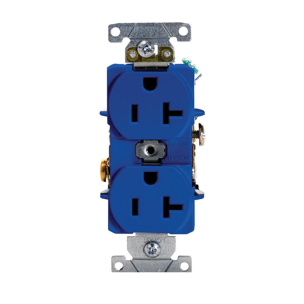 medium resolution of leviton 5352 bu 3 wire 2 pole heavy duty smooth face duplex