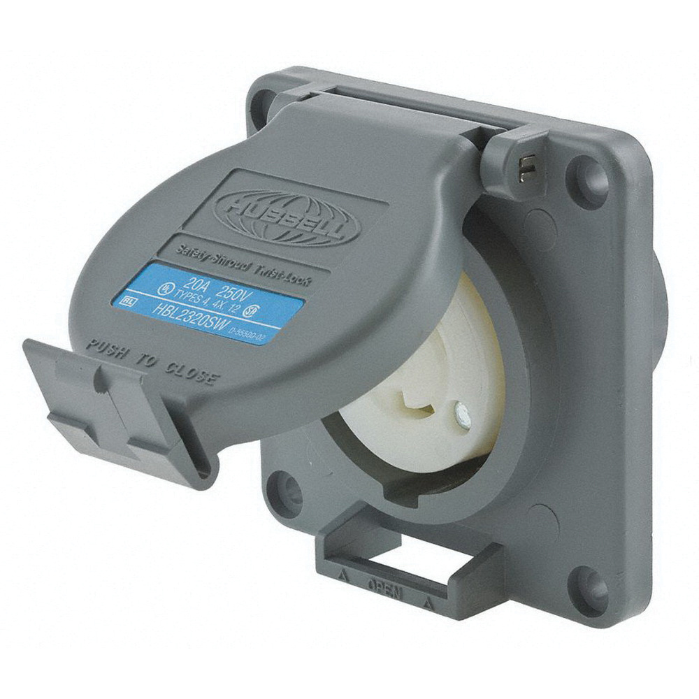 medium resolution of hubbell wiring hbl2320sw industrial grade single twist lock receptacle 250 volt ac at