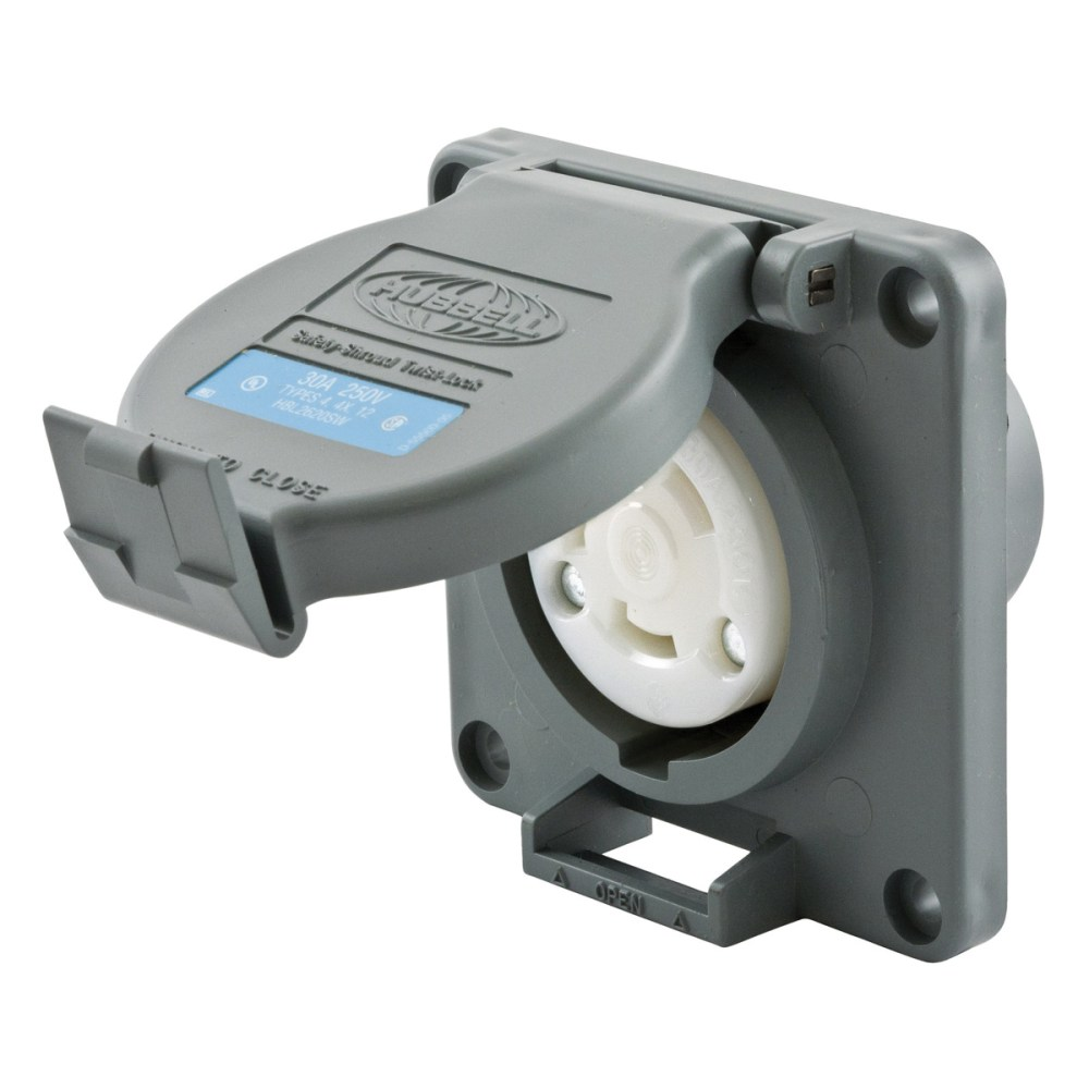 medium resolution of hubbell wiring hbl2620sw industrial grade watertight locking receptacle 30 amp 250 volt ac