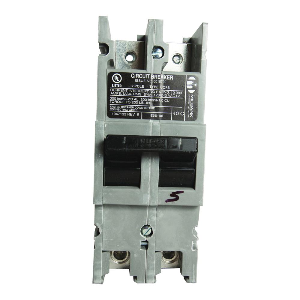 medium resolution of milbank uqfb 200 x1 bolt on mount molded case circuit breaker 2