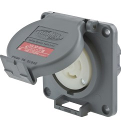hubbell wiring hbl2730sw watertight 3 phase locking receptacle 3 pole 4 wire 480 volt ac 30 amp gray twist lock safety shroud twist lock receptacles  [ 1200 x 1200 Pixel ]