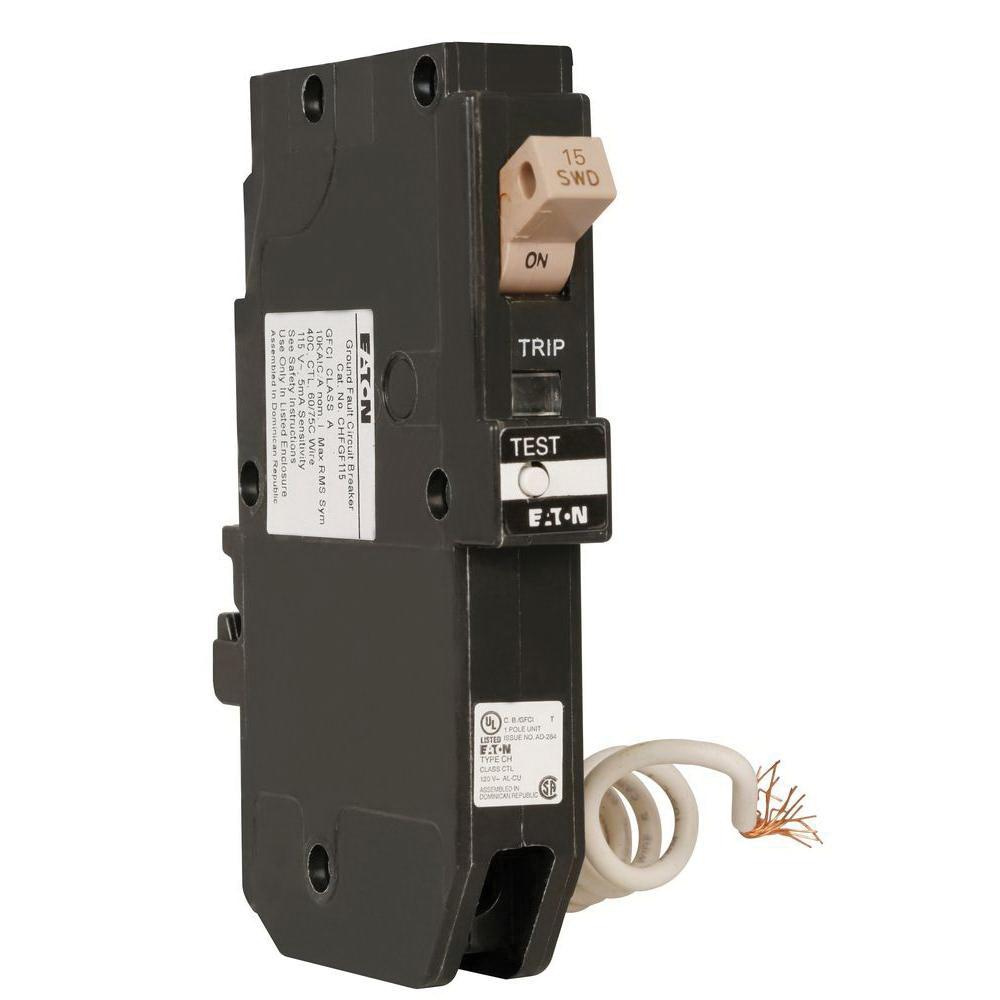 hight resolution of eaton chfgf115 plug in mount type chf ground fault circuit breaker 1 pole 15 amp 120 volt ac arc fault ground fault breakers breakers and fuses power